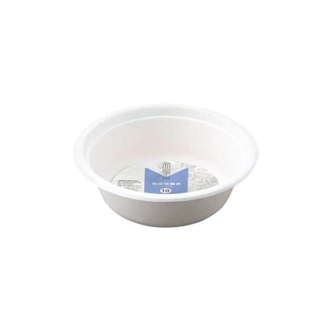 0738 尚篁纸浆快餐具350ml小碗