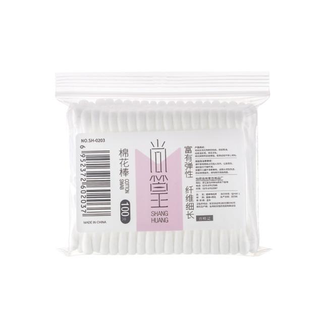 SH-0203 100支软包装塑棉棒